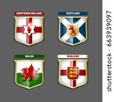 vector flags and coats of arms... | Shutterstock .eps vector #663939097