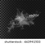 vector illustration of smoky... | Shutterstock .eps vector #663941503