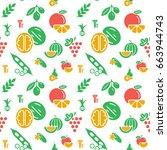 digital green yellow vegetable... | Shutterstock .eps vector #663944743