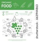 digital vector green and black... | Shutterstock .eps vector #663944863