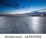 panoramic skyline and buildings ... | Shutterstock . vector #663945583