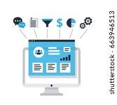 organization of data on work... | Shutterstock .eps vector #663946513