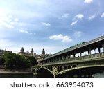 Metro In Paris At Bir Hakeim...