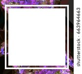 square mosaic frame for text ... | Shutterstock .eps vector #663964663