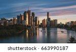 Sunrise In Brisbane City  Shot...