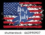 fourth of july lettering.... | Shutterstock .eps vector #663990907