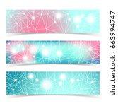 banner set with multiple lines... | Shutterstock .eps vector #663994747