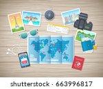 preparing for vacation  travel  ... | Shutterstock . vector #663996817