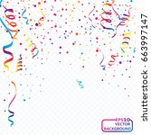 abstract colorful celebration... | Shutterstock .eps vector #663997147