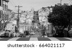 streets of san francisco  march ... | Shutterstock . vector #664021117