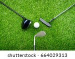 ball  putter  iron wage and...   Shutterstock . vector #664029313