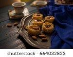 bulbuls nest   a middle eastern ... | Shutterstock . vector #664032823