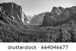 yosemite national park valley... | Shutterstock . vector #664046677
