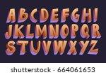 3d cartoon font | Shutterstock .eps vector #664061653
