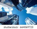 modern skyscrapers shot with... | Shutterstock . vector #664069723