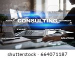 consulting business concept.... | Shutterstock . vector #664071187
