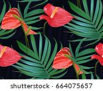 Vector Tropical Flowers And...