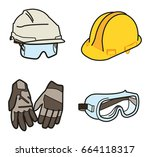 protective clothings | Shutterstock .eps vector #664118317
