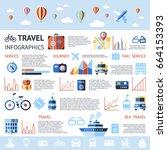 digital vector blue summer time ... | Shutterstock .eps vector #664153393