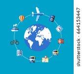 digital vector blue travel...