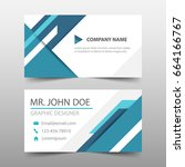 blue triangle corporate... | Shutterstock .eps vector #664166767
