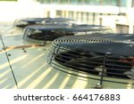 air conditioning system... | Shutterstock . vector #664176883
