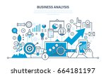 business analysis  data... | Shutterstock .eps vector #664181197