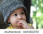 Asian Baby Boy Wearing Beanie...