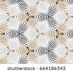 flower pattern vector ...   Shutterstock .eps vector #664186543