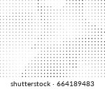 abstract halftone dotted... | Shutterstock .eps vector #664189483