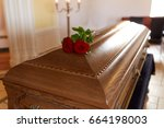 funeral and mourning concept  ... | Shutterstock . vector #664198003