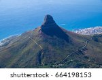 lion's head in cape town south... | Shutterstock . vector #664198153