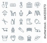 Collection Of Outline Gardenin...