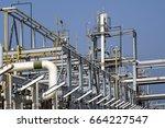 oil refinery installation | Shutterstock . vector #664227547