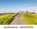 Bike Path Against Dike With...