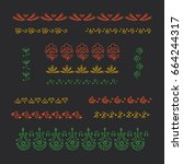 collection of vector graphic... | Shutterstock .eps vector #664244317