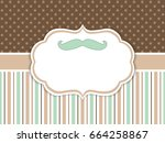 vector card template with... | Shutterstock .eps vector #664258867