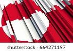 fragment flag of greenland. 3d... | Shutterstock . vector #664271197