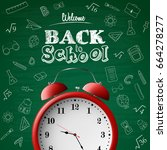 back to school background with... | Shutterstock .eps vector #664278277
