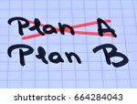 Small photo of PLan A plan B on notebook page