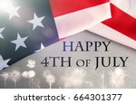 happy fourth of july against...   Shutterstock . vector #664301377