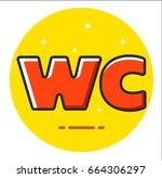 toilet signs | Shutterstock .eps vector #664306297