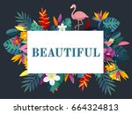 fresh and beautiful flower for... | Shutterstock . vector #664324813