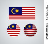 flag design. malaysian flag set.... | Shutterstock .eps vector #664330267