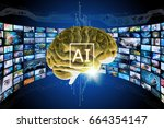 ai  artificial intelligence ... | Shutterstock . vector #664354147