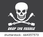 vinyl record dj vector logo... | Shutterstock .eps vector #664357573