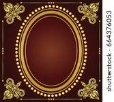 vector vintage border frame... | Shutterstock .eps vector #664376053