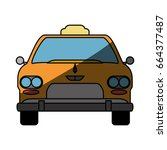taxi cab service | Shutterstock .eps vector #664377487
