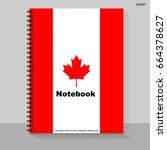 template cover letter notebook...   Shutterstock .eps vector #664378627