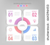 infographic template four steps ... | Shutterstock .eps vector #664396453